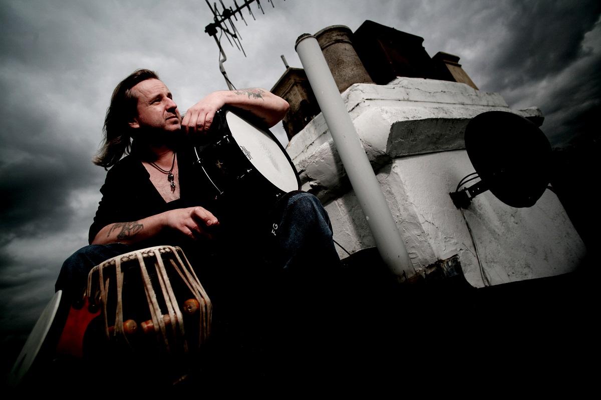 World Percussionist Extraordinaire PETE LOCKETT up on the the roof!